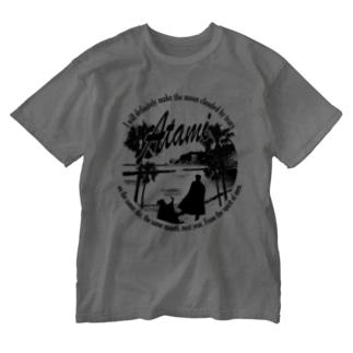 熱海海岸モノクロ(Kanichi&Omiya) Washed T-shirts