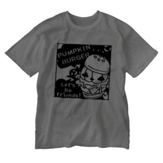 Gz かぼちゃバーガーD Washed T-shirts