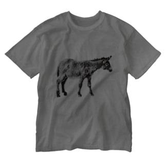 独りぼっちの昼休み Washed T-shirts