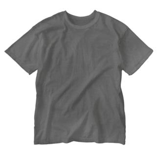 アメリカ合衆国・ネイティブアメリカン地図 白 Washed T-shirts