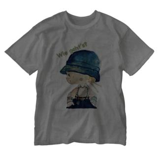 グリュックガール 元気? Washed T-shirts