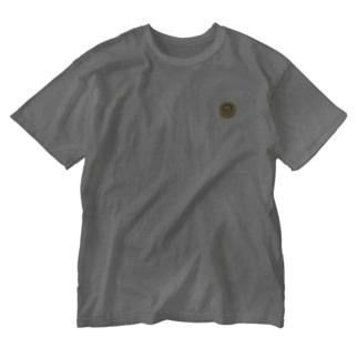 【独学応援サロン】めがねロゴ Washed T-shirts