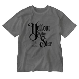 KIN48黄色い太陽の星 Washed T-Shirt