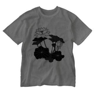 ロータス(グレー) Washed T-Shirt