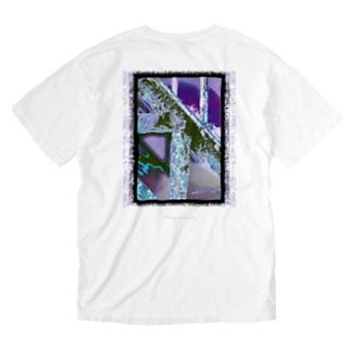 錆びて剥がれて灼熱 ~ パープル Washed T-shirts
