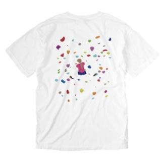 ボルダリングな娘 Washed T-shirts