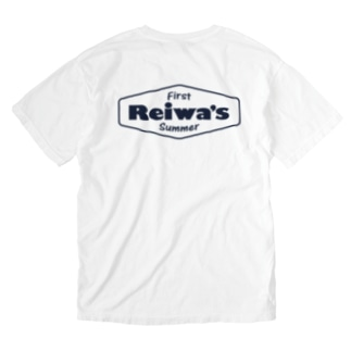 Reiwa's first summer Washed T-shirts