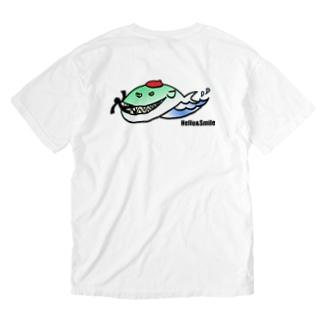 ピクトさんとくじらくん。 Washed T-shirts