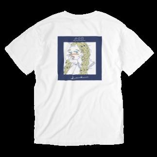 kameのかわいい女の子CDジャケット風 Washed T-shirts