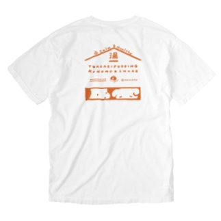 YUAGARI PUDDING(スモア・オレンジ) Washed T-shirts