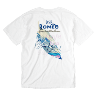 SHOP ROMEO のBlue Bird  Feather Washed T-shirtsの裏面
