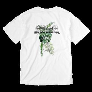 SHOP ROMEO のRomeo greenrogo 02 Washed T-shirtsの裏面