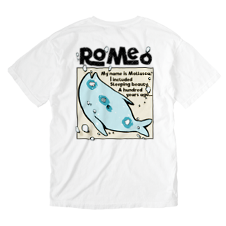 SHOP ROMEO のRomeo My name is mollusca Washed T-shirtsの裏面