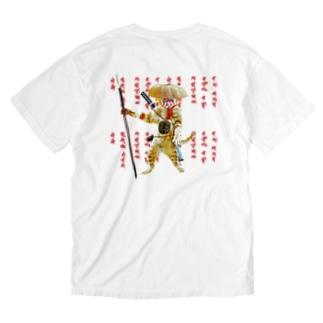 KABUKI CAT 不動明王 Washed T-shirts