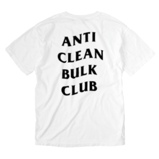 ANTI CLEAN BULK CLUB(BLACK font) Washed T-shirts