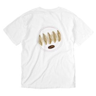 ぎょうざ Washed T-shirts