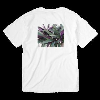 ipunigraphの葉っぱ Washed T-shirts