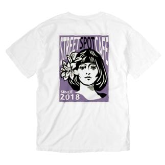 STREETSPOTCAFE 001号 purple Washed T-shirts