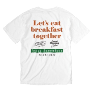 Good  Morning Coffee Washed T-shirts