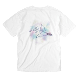 purple dolphin Washed T-shirts