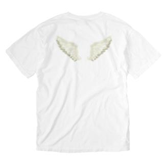 せきね まりのの天使の羽 Washed T-shirtsの裏面