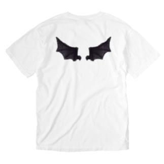 悪魔の羽 Washed T-shirts