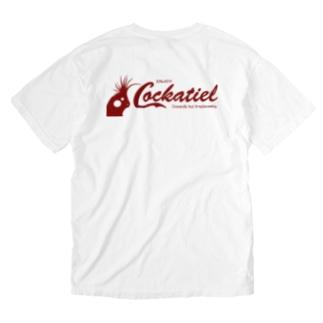 コッカテイル(オカメインコ)バックプリント Washed T-shirts