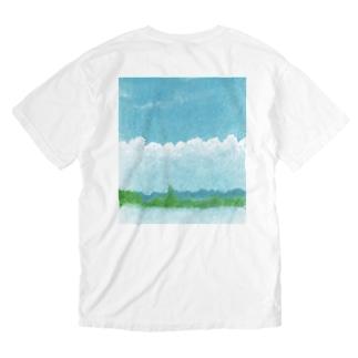 あの空に想う Washed T-shirts