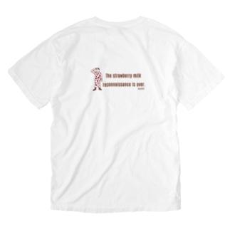 任務完了!(イチゴミルク) Washed T-shirts
