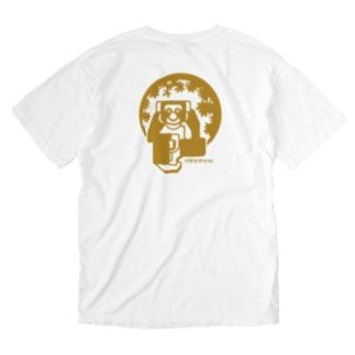 aniまる チンパンジー /バックプリント/ T-shirt Washed T-shirts