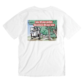 Jobs fill your pocket, Adventures fill your soul.  Washed T-shirts