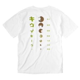 バックプリント キウイキーウィ 視力検査 Washed T-shirts