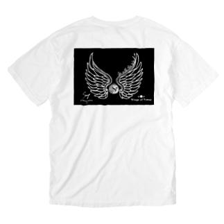 風と共に行こう! 女神の翼2021 ブラック Washed T-shirts