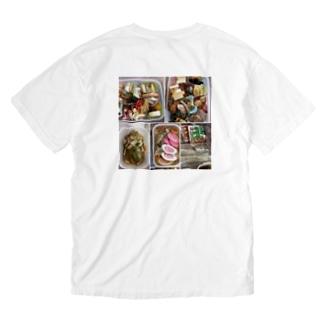 御節料理 カラー(柚 YUZU オリジナル) Washed T-shirts