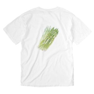 ベジタブルT(アスパラガス) Washed T-shirts