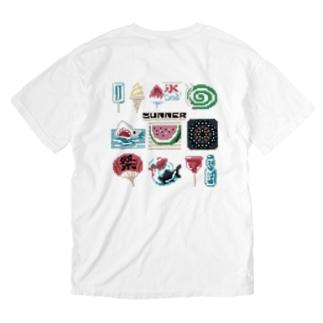 すとろべりーガムFactoryの【バックプリント】 ドットSummer Washed T-shirts