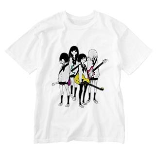 ギター&ベース女子高生 Washed T-shirts