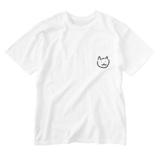 ネコ Washed T-shirts