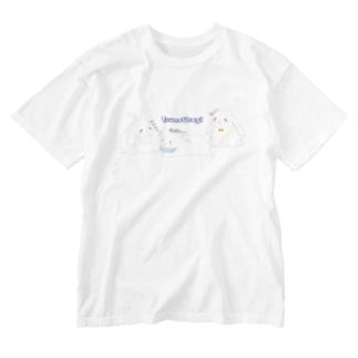 つねうさぎつめ Washed T-shirts