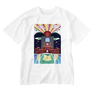 平等院-byodoin- Washed T-shirts