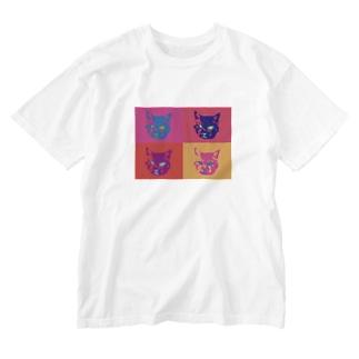 抽象画ちょび Washed T-shirts