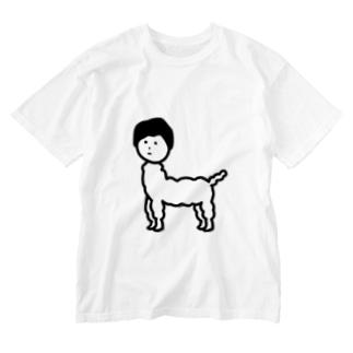 じんめんアルパカ Washed T-shirts