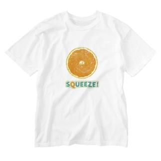 Squeeze!  Orange Washed T-shirts