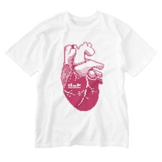 ハート Washed T-shirts