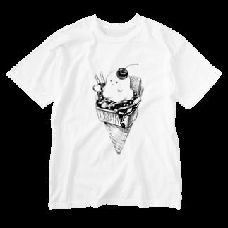 レモネードプールのオバケちゃんのアイス Washed T-shirts