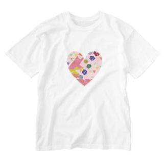 ごちゃごちゃはーと Washed T-shirts