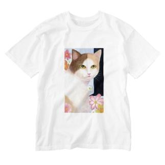 猫の想い出 Washed T-shirts