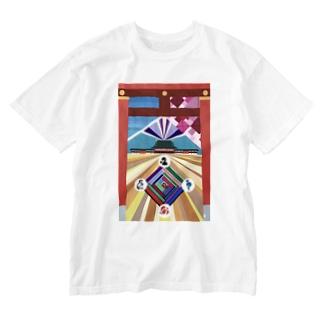 平安-heian- Washed T-shirts