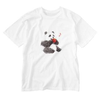 りんごと子パンダ Washed T-shirts