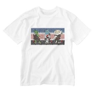 御あつらへ三色キャラ Washed T-shirts
